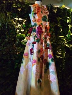 One of our beautiful artists collaboration gowns!  This stunning floral gown was made by Gemma Hayden Blest (@Gemma Hayden Blest)