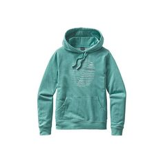 Women's Patagonia Marching In Lightweight Hoody ($69) ❤ liked on Polyvore featuring tops, hoodies, long hoodie, green hoodie, hooded sweatshirt, graphic shirts and pullover hoodies