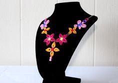 Unique Flower Design Quilling NecklaceHandmade by SparklingQueenz
