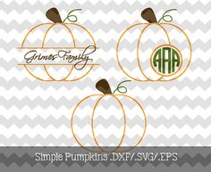 Simple Pumpkin Files .DXF/.SVG/.EPS  for use by KitaleighBoutique