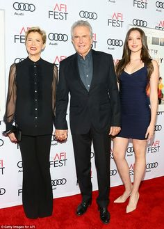 One of their four children: Annette Bening and Warren Beatty brought their daughter Elle to the AFI screening of 20th Century Women in LA on Wednesday