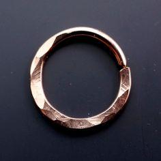 Septum ring 16g nose ring septum hoop by CecileStewartJewelry
