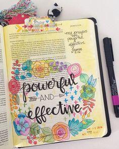Bible Journaling by Grace Veenker @graceveenker   James 5:16