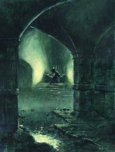 Phantom of the Opera inspired artwork by Edward Miller, pseudonym of British fantasy artist Les Edwards.