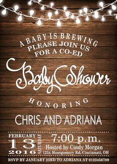 A Baby Is Brewing Baby Shower Invitation Co-Ed Baby by mymyparty
