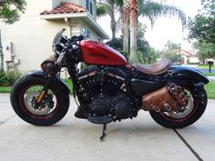 2013 Forty-Eight - Harley Davidson Forums - The tank, the LaRosaDesign, the seat, the handlebars, the windshields, the throttle.