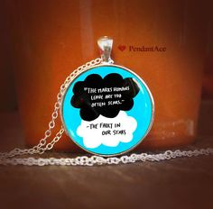 the fault in our stars Quotes pendant