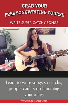 Free songwriting course! Learn to write songs so catchy, people can\'t stop humming your tunes. www.hitsonghighway.com
