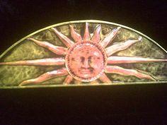 Sun Burst Arch Wall Plaque Celestial Astrology Yellow Orange Interior Decoration Astronomy Hanging Summer Man Face Solar Home Garden Decor on Etsy, $34.99