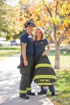 A Firefighter and a Nurse - Denver Engagement Pictures | Photo by KB Digital Designs