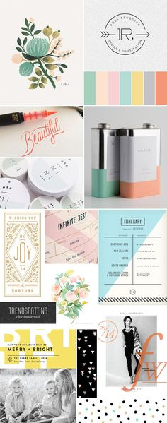 The chic modernist stationery trend for winter and holiday 2014 - Soft, light, and clean with lots of sleek typography and beautiful calligraphy. Creative Logo, Blog Design, Design Art, Graphic Design Typography, Branding Design, Holiday 2014, Winter Holiday, Graphic Makeup, Vintage Logo