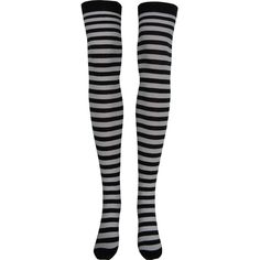 Stripe Opaque Thigh High Socks in Black and White ❤ liked on Polyvore featuring intimates, hosiery, socks, stripe thigh high socks, opaque hosiery, black and white striped socks, black white striped socks and thigh high hosiery