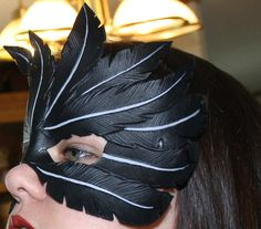 Leather Raven Feather Mask by Lady-Cass on DeviantArt
