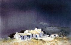 Treliddid Fawr - Watercolour by David Bellamy