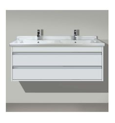 Duravit Duravit Vanity Unit Wall-Mounted 2 Drawers in Basalt Matt 48 Vanity, Vanity Units, Double Vanity, Duravit, Shower Taps, Drawer Unit, Bathroom Furniture, Space Saving, Basin