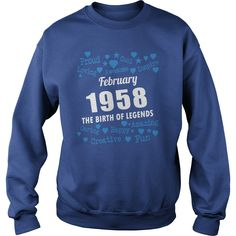 FEBRUARY 1958 the birth of legends Shirts, FEBRUARY 1958 Birthdays T-shirt, Born FEBRUARY 1958, FEBRUARY 1958 the birth of legends, 1958s Shirts, Born in FEBRUARY 1958 Birthdays, FEB 1958 Hoodie #gift #ideas #Popular #Everything #Videos #Shop #Animals #pets #Architecture #Art #Cars #motorcycles #Celebrities #DIY #crafts #Design #Education #Entertainment #Food #drink #Gardening #Geek #Hair #beauty #Health #fitness #History #Holidays #events #Home decor #Humor #Illustrations #posters #Kids…