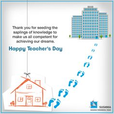 A happy teachers day to all from Sushma family. Tag your favourite teacher here & express your love for them. #TeachersDay #ThankYouTeacher #SushmaBuildtech #RealEstate #Chandigarh