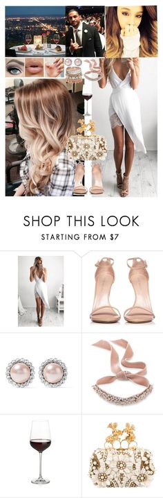 """""""First Date 💋Alicia💋"""" by carolalink ❤ liked on Polyvore featuring Stuart Weitzman, Miu Miu, Fallon, Crate and Barrel and Alexander McQueen"""