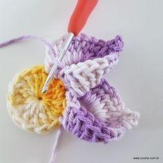 Layered 12 Petals Crochet Flower For Dec - Gardening - DIY & Crafts Different Crochet Stitches, Crochet Stitches Free, Crochet Squares, Crochet Doilies, Crochet Flower Tutorial, Crochet Flower Patterns, Crochet Flowers, Diy Crafts Crochet, Yarn Crafts