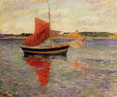 The Athenaeum - Seascape (Henri Moret - )