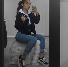 Here is Vans Outfit Picture for you. Vans Outfit outfit with casual outfits with vans flats chicisimo. Tumblr Outfits, Insta Outfits, Mode Outfits, Fall Outfits, Fashion Outfits, Winter Outfits Tumblr, Lit Outfits, Scene Outfits, Flannel Outfits