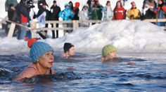 Get your winter hat on and enter a swimming competition! The water is ice-cold, but a lot of people love it.