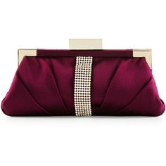 Badgley Mischka Aurore Embellished Evening Clutch Bag ($235) ❤ liked on Polyvore featuring bags, handbags, clutches, wine, purple purse, embellished handbags, rhinestone studded purse, badgley mischka handbags and wine purse