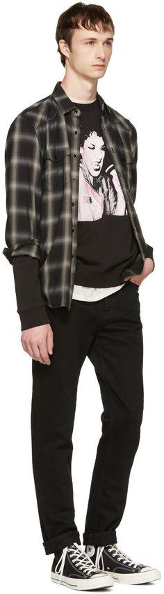 McQ Alexander McQueen - Black Graphic Clean Sweatshirt