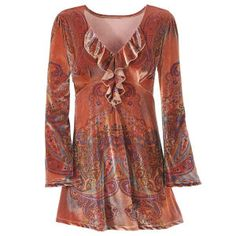 Copper Paisley Top - New Age & Spiritual Gifts at Pyramid Collection
