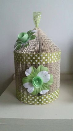 Handmade Book fold birdcage decorative by KatieCraftyCreation