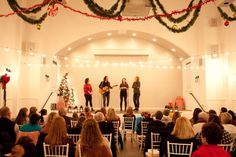 The room was filled with holiday spirit at the Gundersen Holiday Concert at Seabrook Town Hall 2014. #noahgundersen #seabrookwa