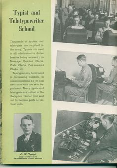 Lt. W. Franzel, Chief of Typist and Teletypewriter School Section