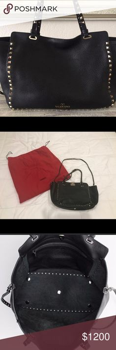 Valentino rock stud medium. Very noce tote valentino bag. Very well maintain. Smoke free house. Comes with extra strap. Valentino Garavani Bags Totes