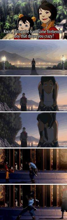 HAHAHA this is like my favorite part in the whole season - when she earth bends them away! Hahah - Legend of Korra