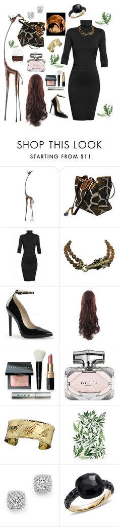 """""""Long neck sexy!"""" by yvette-colon ❤ liked on Polyvore featuring Cyan Design, Dooney & Bourke, Undress, Ciner, Bobbi Brown Cosmetics, Gucci, Bloomingdale's and Pomellato"""