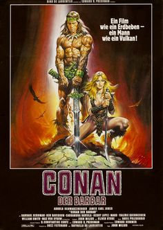 Conan the Barbarian German movie poster