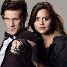 The Eleventh Doctor (Matt Smith) and Clara Oswald (Jenna Coleman)