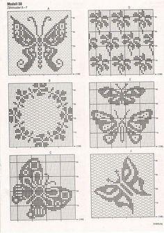 28 Schemi Motivo Farfalla Anche Filet Idee Per La Casa Crochet