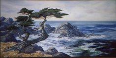 monterey cypress and the sea Monterey Cypress, Sea Tattoo, Cypress Trees, Vines, Coastal, Flora, Environment, Mountains, Tattoos