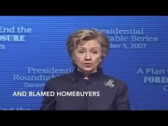 Hillary blames home owners for the crash of 2008 | Published on Jan 13, 2016 | https://youtu.be/Hb_TFjYfcyQ | I could never, ever vote for HRC! #FeelTheBern #ImNotWithHer