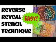 Reverse Reveal Stenciling Technique - YouTube