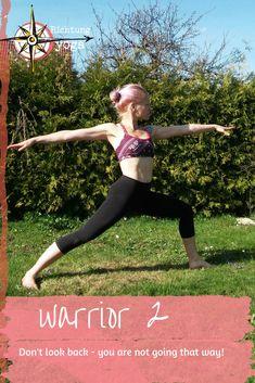 warrior 2 - be brave, look forward! #richtungyoga #bestrong #youareenough #yoga #asana #warriorpose #virabhadrasana #achtsamkeit #yogaeveryday #yogini Stress Management, Asana, Dont Look Back, Yoga, Looking Back, That Way, Brave, Running, Outfits