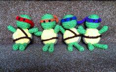 Crochet Ninja Turtles (set of 4) on Etsy by AllisonsWonderlandCo