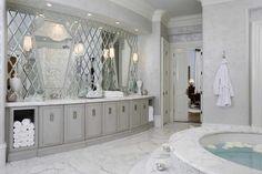 Perfect White Marble Master Bathroom Designs