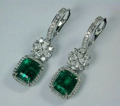 Earrings Studs If you own precious fashion jewelry such as diamond earrings, pendants, diamond rings, or other fine precious jewelry items, you can keep these items for a life time if you look after them. Emerald Earrings, Emerald Jewelry, Gold Jewelry, Dangle Earrings, Fine Jewelry, Gemstone Bracelets, Gemstone Earrings, Diamond Jewelry, Vintage Jewelry