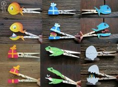 40 DIY Paper Crafts Ideas for Kids- 40 DIY Paper Crafts Ideas for Kids crafts with wooden clothespins - Kids Crafts, Diy Craft Projects, Projects For Kids, Diy For Kids, Arts And Crafts, Craft Ideas, Diy Ideas, 4 Kids, Easy Crafts
