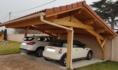 5 Discover Clever Hacks: Roofing Architecture Section small patio roofing.Roofing Styles Wrap Around Porches roofing shingles cleanses. Carport Designs, Pergola Designs, Pergola Ideas, Porch Roof, Shed Roof, Roof Deck, Parking Plan, Car Parking, Modern Roof Design