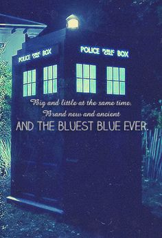 """You'll dream about that box.  It'll never leave you.  Big and little at the same time.  Brand new and ancient, and the bluest blue ever.  And the times we had, eh?  Would have had.  Never had.  In your dreams they'll still be there.  The Doctor and Amy Pond and the days that never came."""