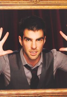 Zachary Quinto -- This, for whatever reason, is just so, very cute!!