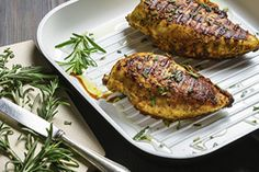 Roasted Rosemary Chicken - Chicken is a popular choice of protein for bariatric patients because of its high quality protein, low fat content, mild taste, and it's generally well tolerated on a post gastric sleeve, gastric bypass, or lap band diet.  #chicken #chickenrecipe #rosemary #weightlosscommunity #lapband #BocaRaton